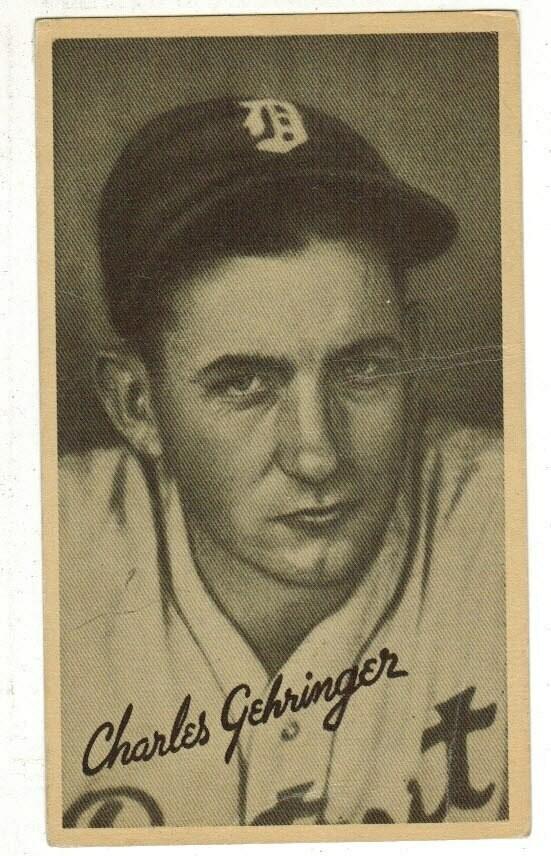 1936 Goudey Wide Pen Premium Charlie Gehringer