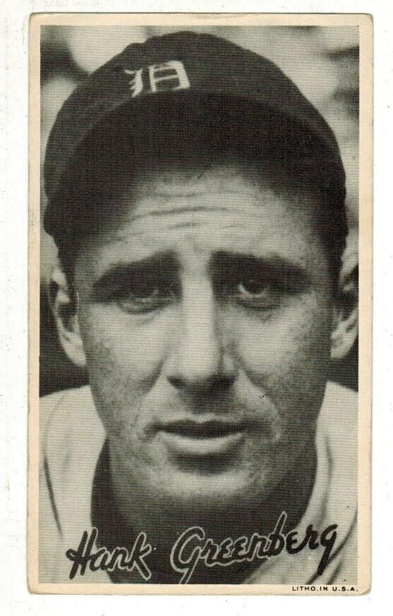 1936 Goudey Wide Pen Premium Hank Greenberg