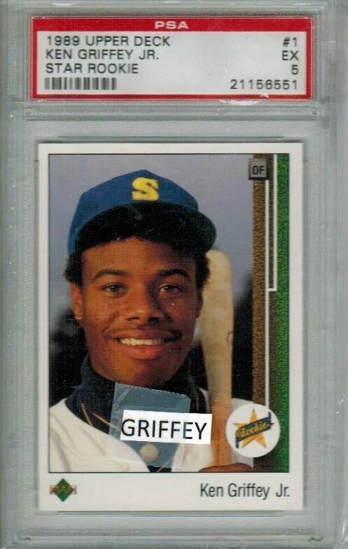 1989 Upper Deck Ken Griffey Jr. rookie PSA 5