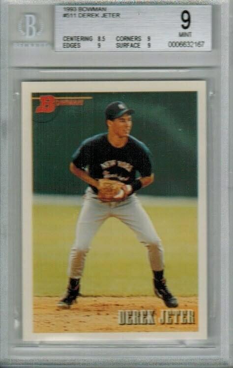 1993 Bowman Derek Jeter rookie Beckett 9