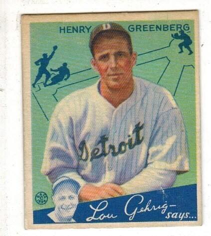 1934 Boudey #62 Hank Greenberg rookie Clean!
