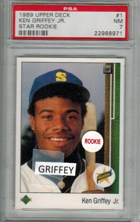 1989 Upper Deck Ken Griffey Jr. rookie PSA 7