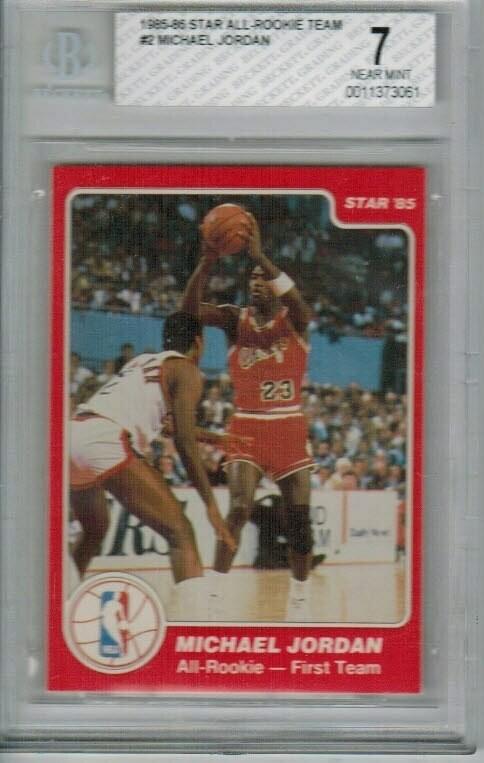 1985 Star Michael Jordan All Rookie Beckett 7
