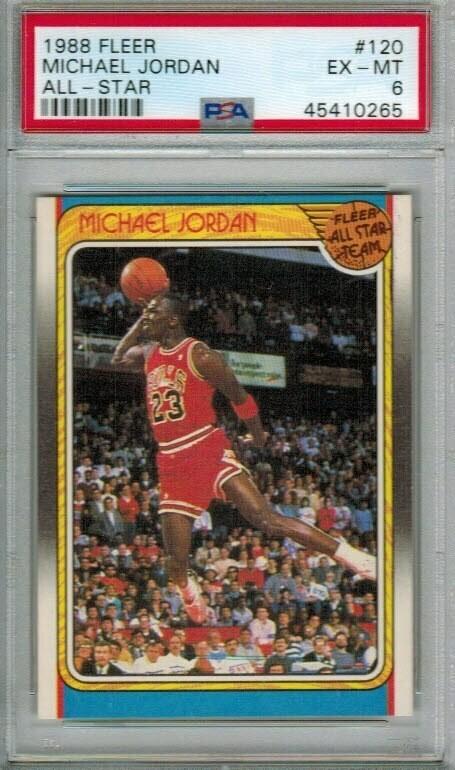 1988 Fleer Michael Jordan All Star PSA 6