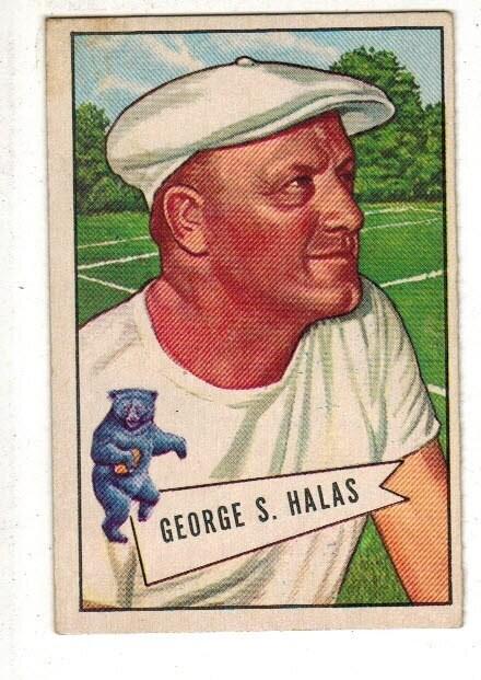 1952 Bowman Large #48 George Halas list $250