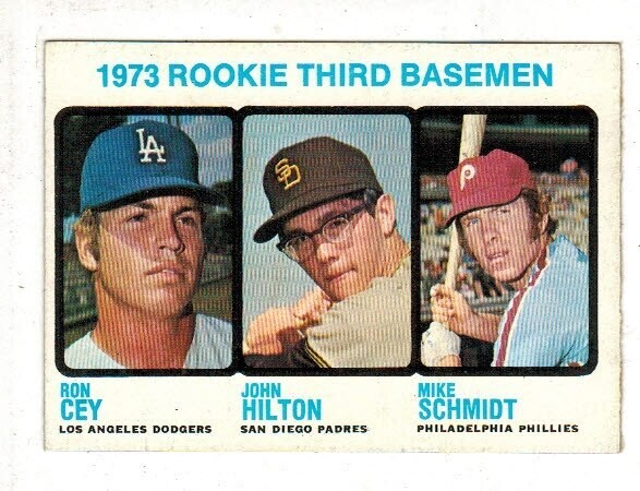 1973 Topps #616 Mike schmidt rookie list $300