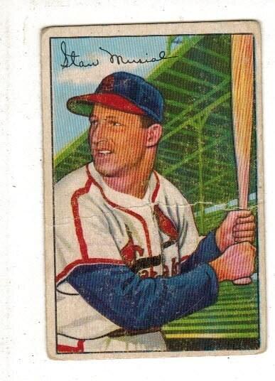 1952 Bowman #196 Stan Musial list $600