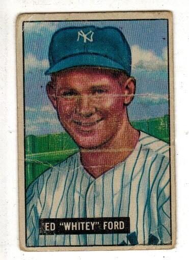 1951 Bowman #1 Whitey Ford rookie Good/Fair list $2,000