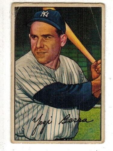 1952 Bowman #1 Yogi Berra Good/VG list $600