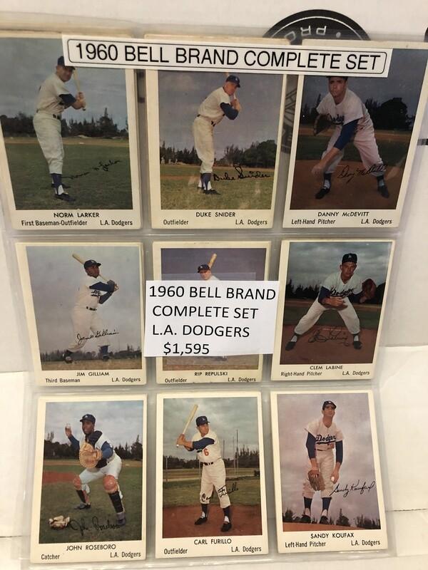 1960 Bell Brand Potato Chip Complete Set