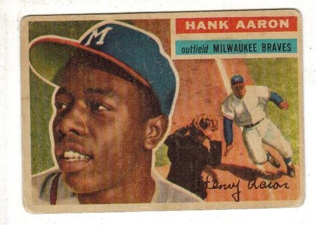 1956 Topps #31 Hank Aaaron list $400  VG-