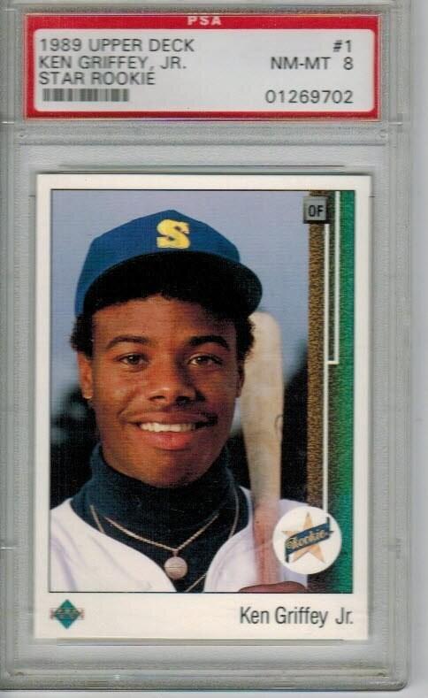 1989 Upper Deck Ken Griffey Jr. PSA 8
