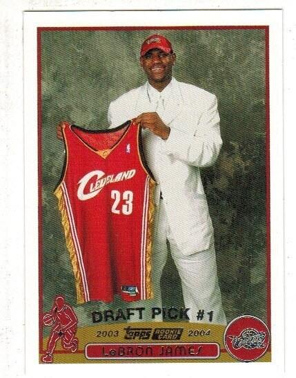 2003 Topps #221 lebron James rookie