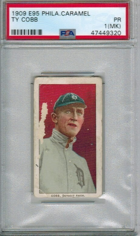 1909 E95 Phila. Caramel Ty Cobb PSA 1