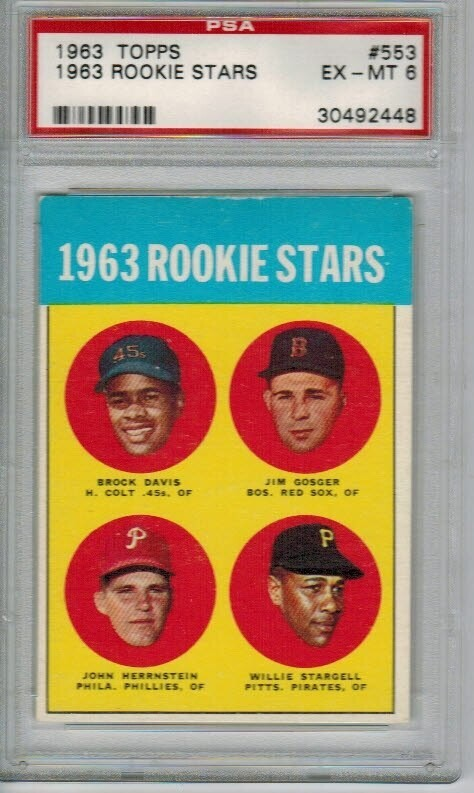 1963 Topps #553 Willie Stargell rookie PSA 6