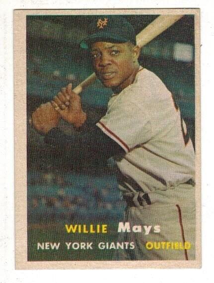 1957 Topps #10 Willie Mays list $600