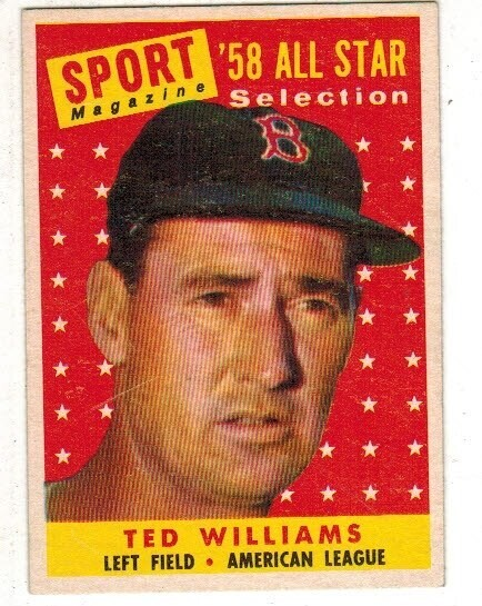 1958 Topps #485 Ted Williams All Star