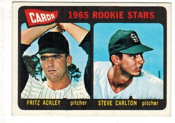 1965 Topps #477 Steve Carlton rookie list $300