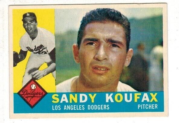 1960 Topps #343 Sandy Koufax list $200