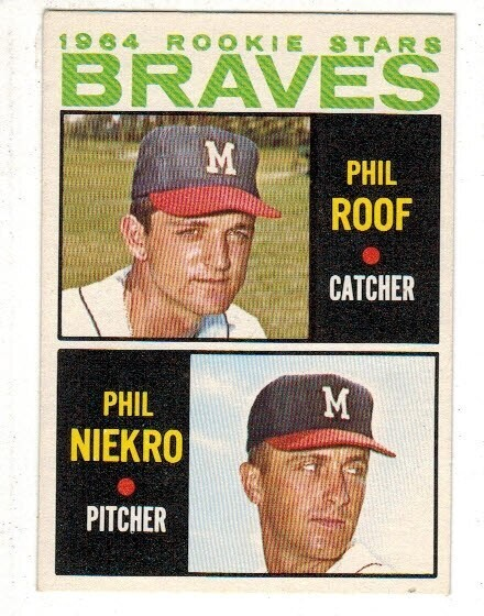 1964 Topps #541 Phil Niekro rookie