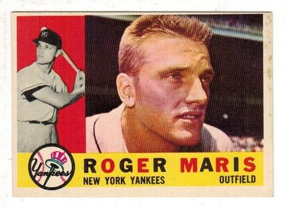 1960 Topps #377 Roger Maris list $100