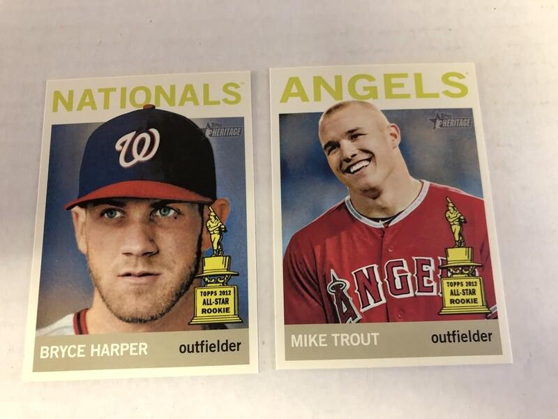 2013 Heritage Color Swap 25 card set Trout
