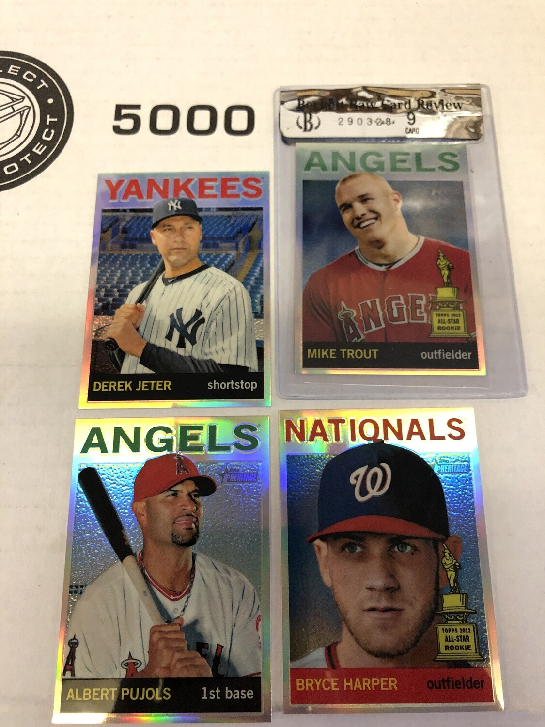 2013 Heritage Chrome Refractor Complete 102 ct. set #'d 564 Trout