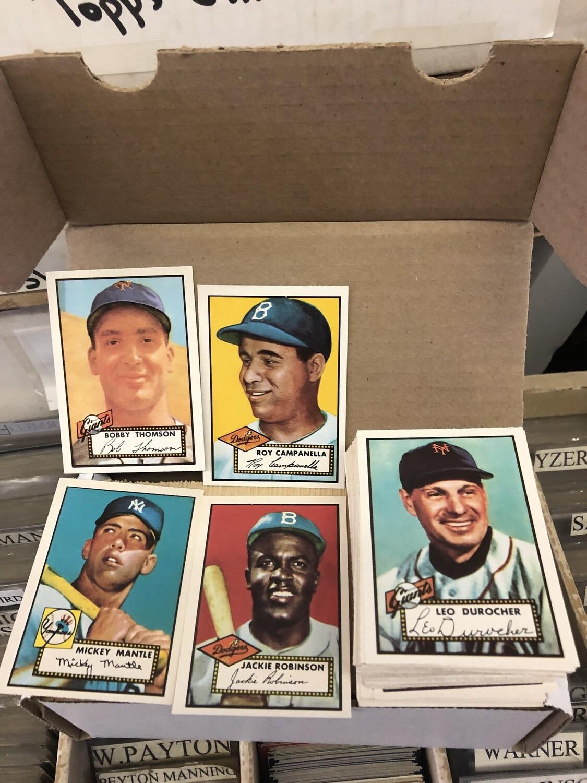1952 Topps Baseball Reprint Set #1-407 Mantle rookie