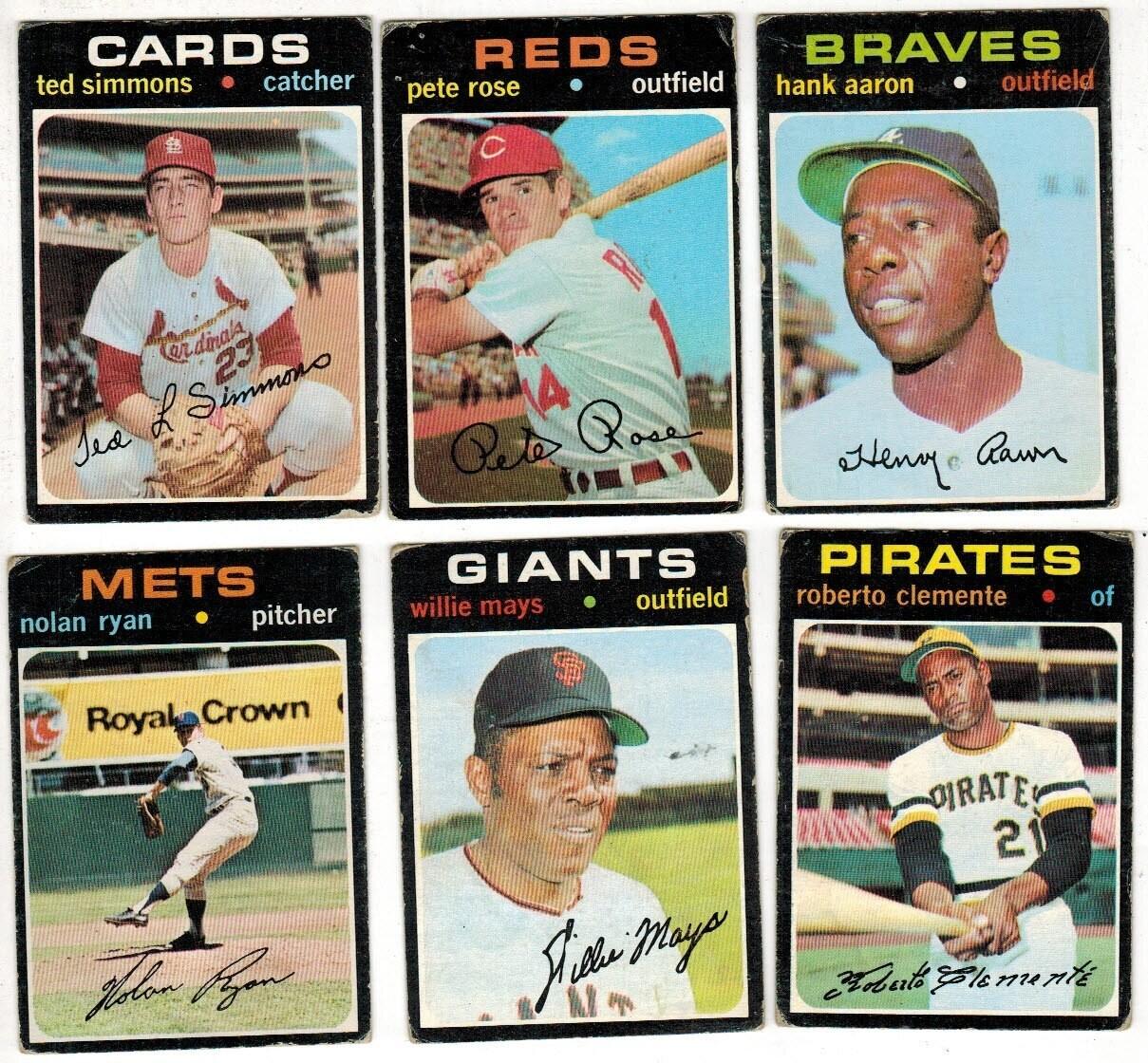 1971 Topps Baseball Near Set 636 ct. VG or less