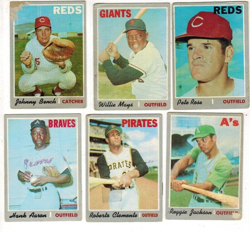 1970 Topps Baseball Near Set 562 ct. Vg or less