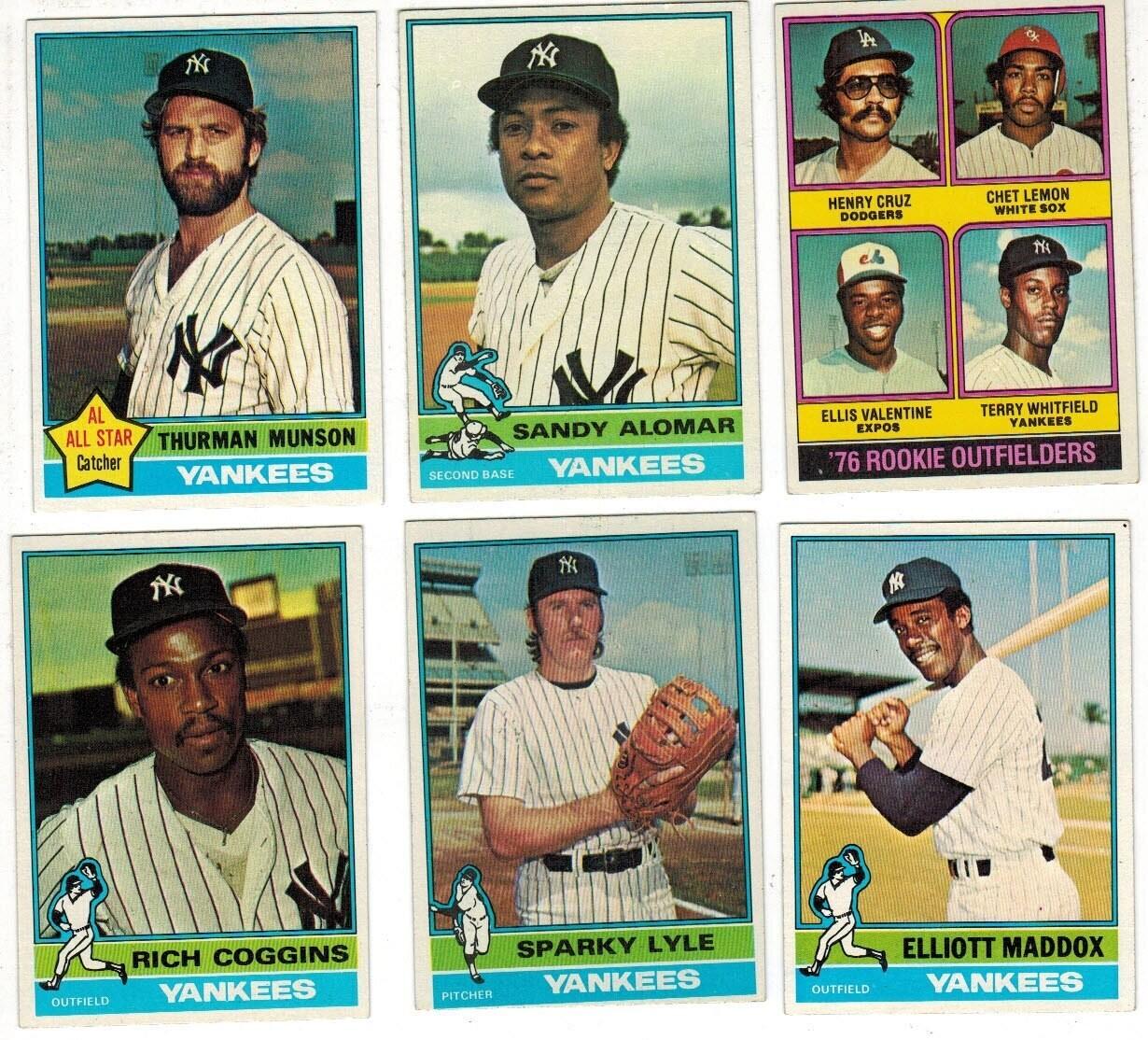 1976 Topps Yankee Team set 34 ct.