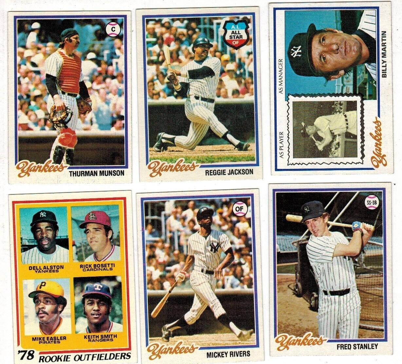 1978 Topps Yankee Team set 30 ct. World Champs