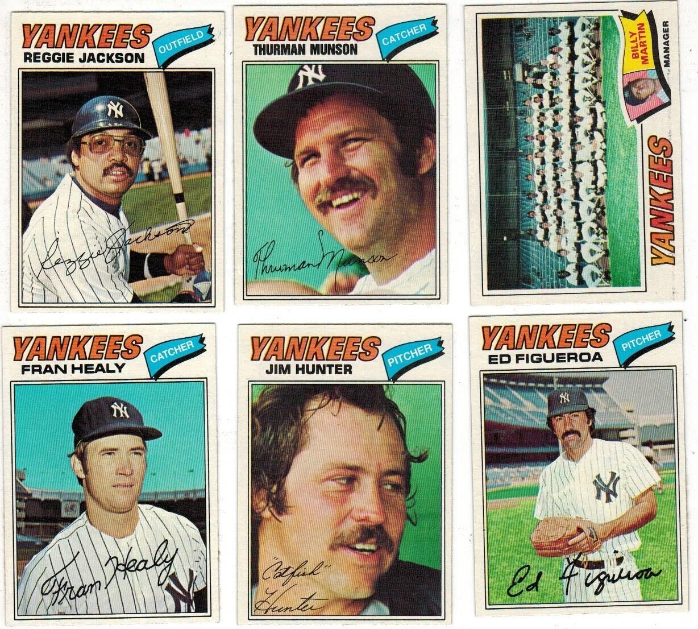 1977 Burger King Yankee Team set 25 ct. World Champs