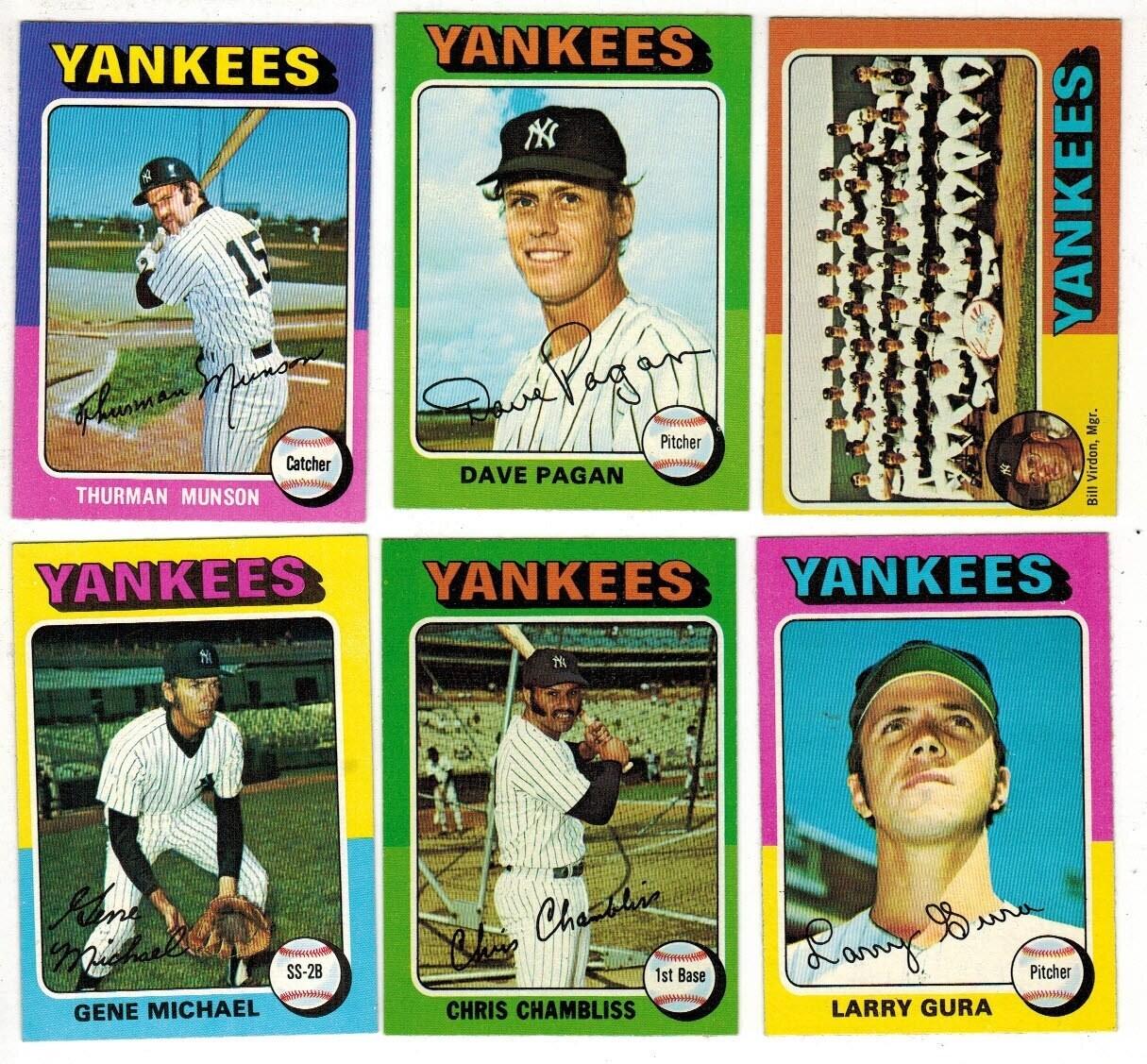 1975 Topps Yankee Team set 26 ct.
