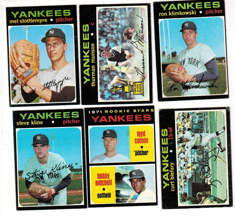 1971 Topps Yankee Team set 32 ct. w/ High #'s
