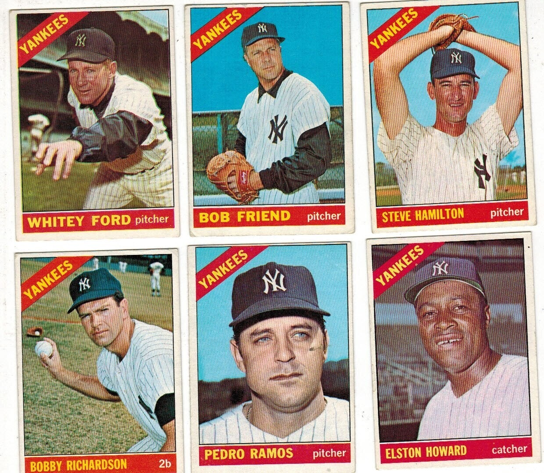 1966 Topps Yankee Team set 23 ct. No Mantle, 1 Hi #