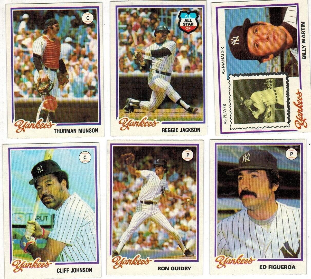 1978 Burger King Yankee Team set 23 ct. World champs