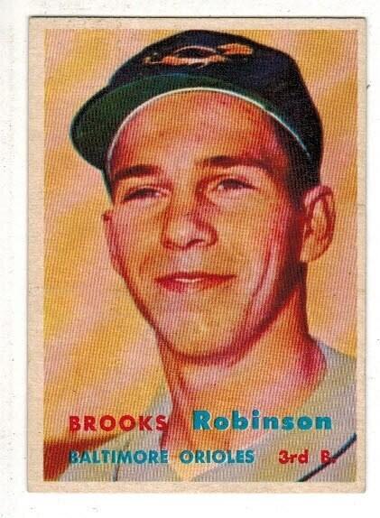 1957 Topps #328 Brooks Robinson rookie list $1500