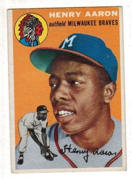 1954 Topps #128 Hank Aaron rookie Ex+
