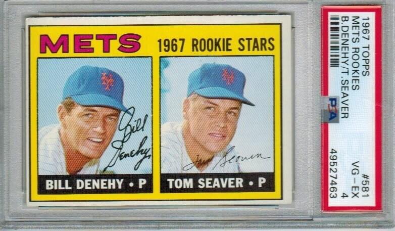 1967 Topps #581 Tom Seaver rookie PSA 4