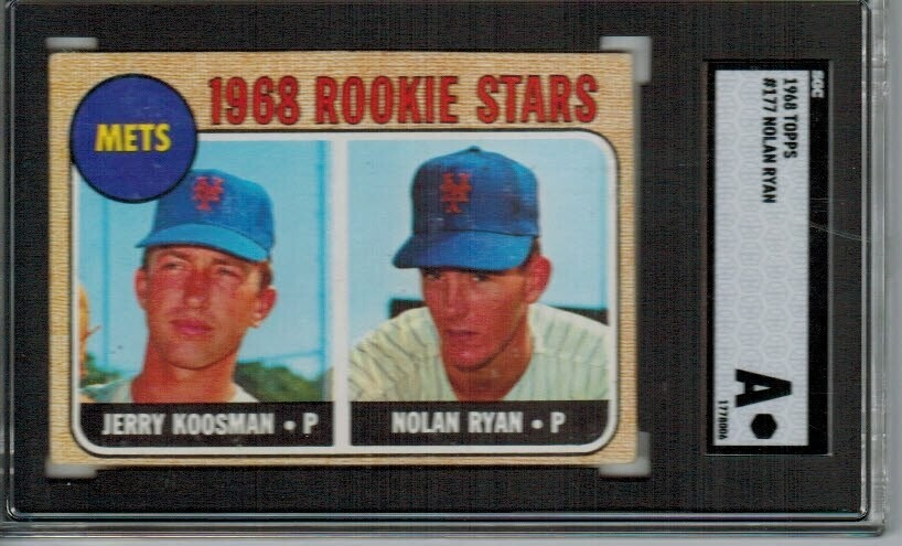 1968 Topps #177 Nolan Ryan rookie SGC Authentic
