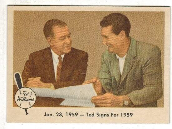 1959 Fleer #68 Ted Signs Nr Mint