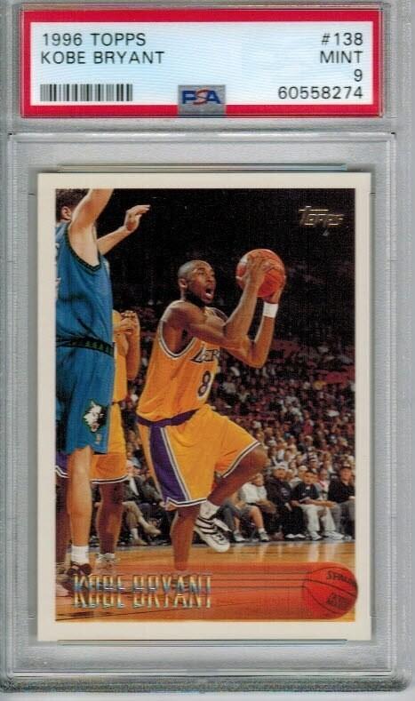 1996 Topps #138 Kobe Bryant rookie PSA 9