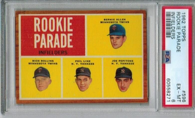 1962 Topps #596 Joe Pepitone Rookie Parade PSA 6