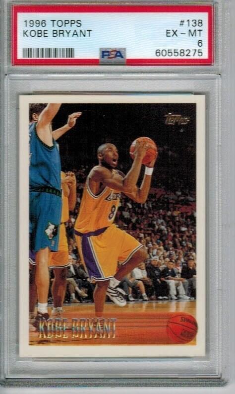 1996 Topps #138 Kobe Bryant rookie PSA 6