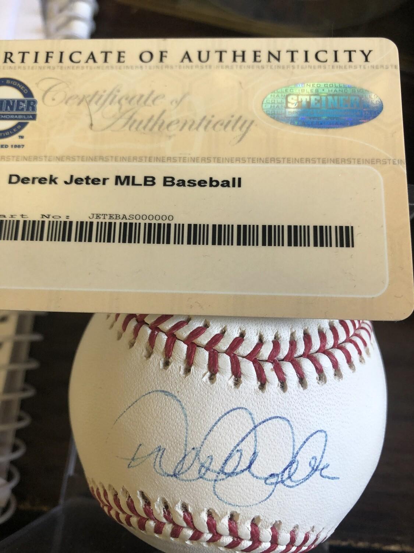 Derek Jeter signed baseball  Steiner Cert.