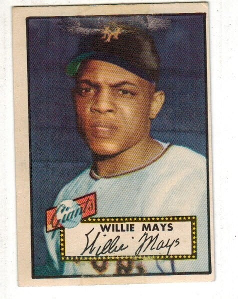 1952 Topps #261 Willie Mays rookie