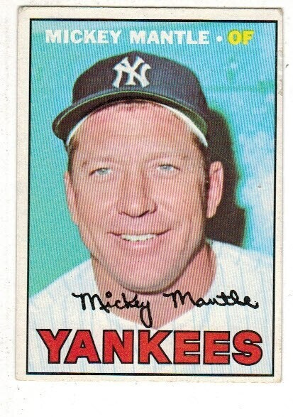 1967 Topps #150 Mickey Mantle list $400