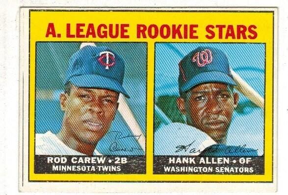 1967 Topps #569 Rod Carew rookie list $800