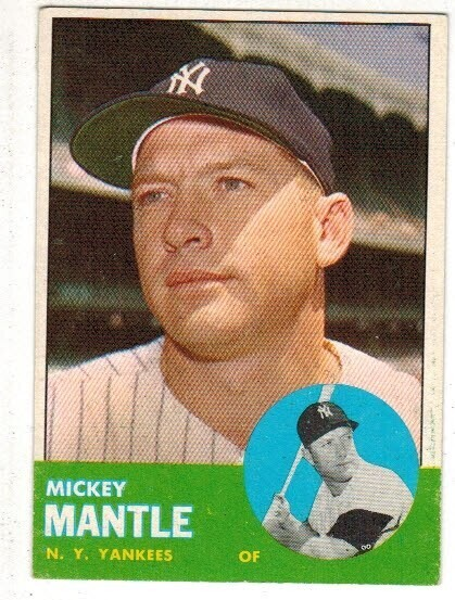 1963 Topps #200 Mickey Mantle list $600